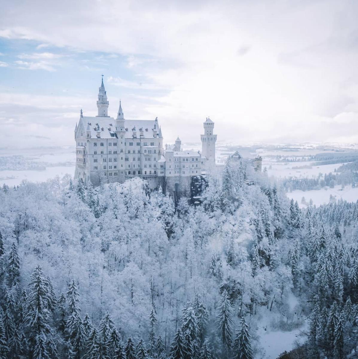 Картинки замок зимы