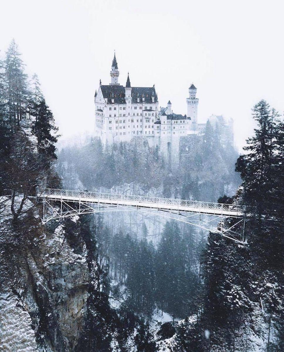 Нойшванштайн замок фото мост